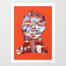 Red King Art Print