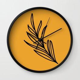Feeling of lightness III - Mellow Yellow Wall Clock