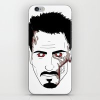robert downey jr iPhone & iPod Skins featuring Zombie Robert Downey Jr. by Roman Jones