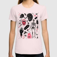 Whole Lotta Horror MEDIUM Womens Fitted Tee Light Pink