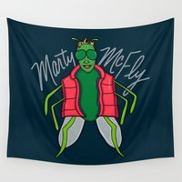 mcfly Wall Tapestries featuring Marty McFly by Chelsea Herrick
