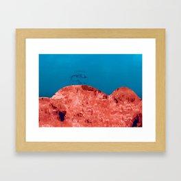 Bizon rouge Framed Art Print