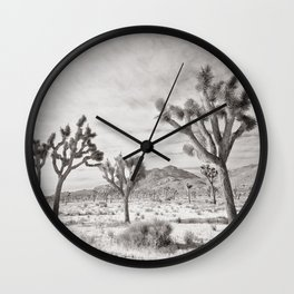 Joshua Tree Grey By CREYES Wall Clock
