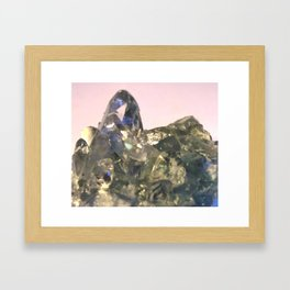Blue Celestite Crystals Quartz Aura Said to Reduce Stress Framed Art Print