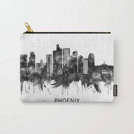 Phoenix Arizona Skyline BW Carry-All Pouch
