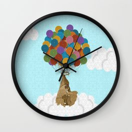 Happy Birthday Sloth Wall Clock