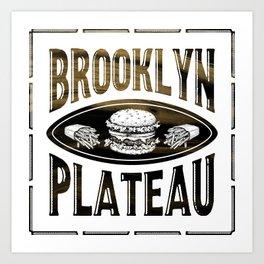 Brooklyn X Plateau - NYC x MTL Art Print