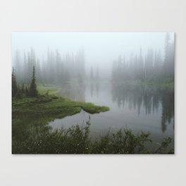 Foggy Tree Reflection Lake Canvas Print