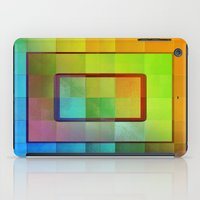 aperture iPad Cases featuring Aperture #3 Vibrant Fractal Pleat Texture Design by CAP Artwork & Design