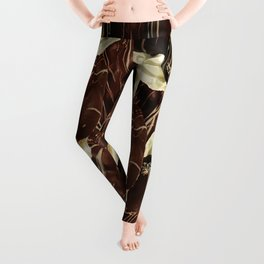 Brown Pod Puffs Leggings