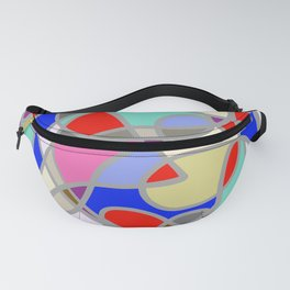 Stain Glass Abstract Meditation Painting 1 Fanny Pack