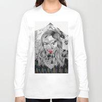 cara Long Sleeve T-shirts featuring Cara by Veronique de Jong · illustration