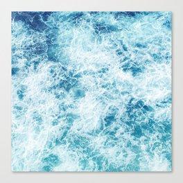 Sea ocean storm waves Canvas Print