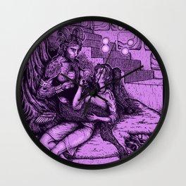 The girl & the satyr Wall Clock