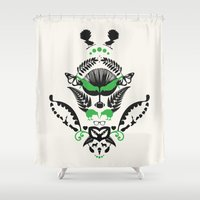 new zealand Shower Curtains featuring New Zealand  by Carly Hitchcock