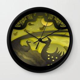 Night papercut Wall Clock
