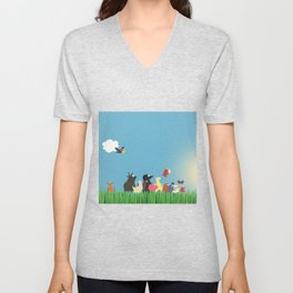 What's going on the farm? Kids collection Unisex V-Neck