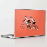 cycling Laptop & iPad Skins featuring Keep Cycling by Drew Linne