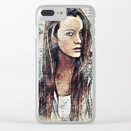 Girl Painting Clear iPhone Case