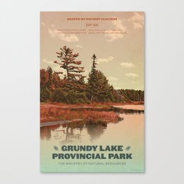 Grundy Lake Provincial Park Poster Canvas Print