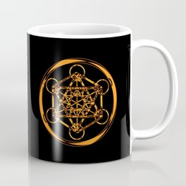Metatron Cube Gold Coffee Mug