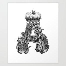 king letter Art Print