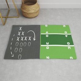 Football Game Day Play Rug
