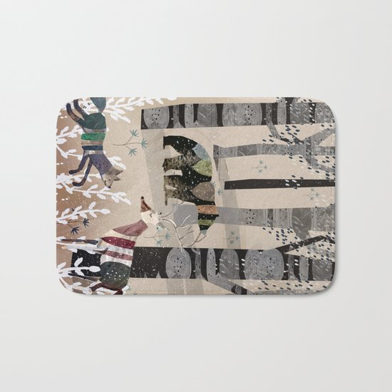 Forest in Sweater Bath Mat