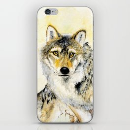 Totem Grey wolf iPhone Skin