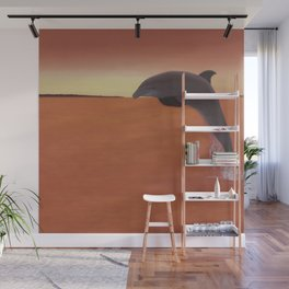 Dolphin Leap of Joy Wall Mural