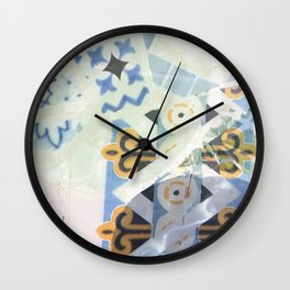 Mosaic of Barcelona X Wall Clock