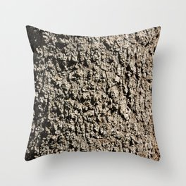 TEXTURES -- Western Sycamore Bark Throw Pillow