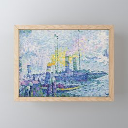 The Port of Rotterdam Framed Mini Art Print