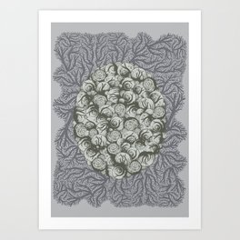 Snails All The Way Down Art Print