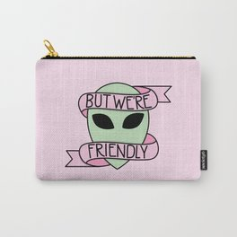 We Are Friendly (Pink) Carry-All Pouch