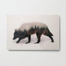 Black Wolf Metal Print