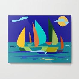 sailrace Metal Print