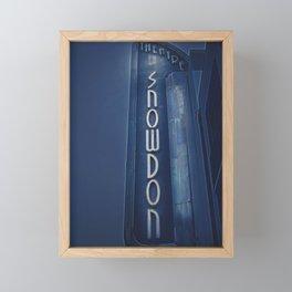 Deco Snowdon Framed Mini Art Print
