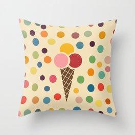 sweet summer ice cream Throw Pillow