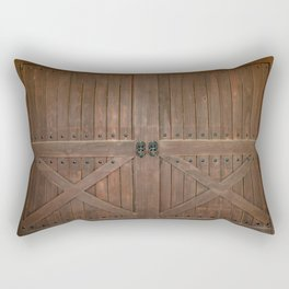 Brown Door Rectangular Pillow