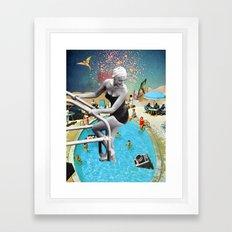 Happy Hippy Hippo Framed Art Print