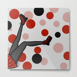 She Kicks | Veronica Nagorny Metal Print