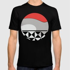 Puzzle with Wave Mens Fitted Tee Black MEDIUM