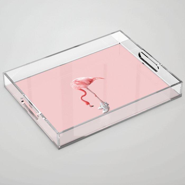 SNEAKER FLAMINGO Acrylic Tray