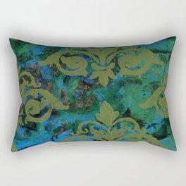 Moss Damask Rectangular Pillow