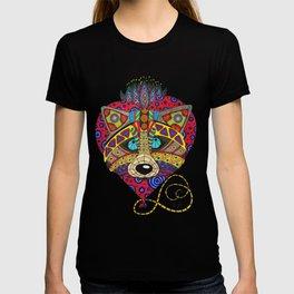 Doodling raccoon with heart T-shirt