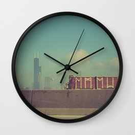 Chicago from Freeway Wall Clock