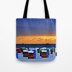 BEFORE THE STORM - beach chairs - Baltic Sea Tote Bag
