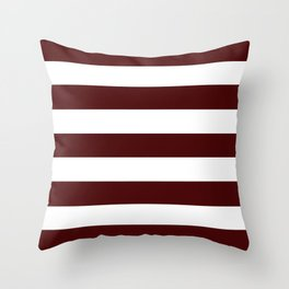 Bulgarian rose - solid color - white stripes pattern Throw Pillow