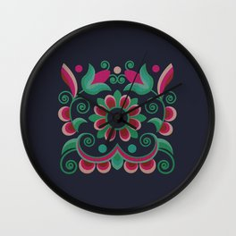 Grace Embroidered Flowers Wall Clock